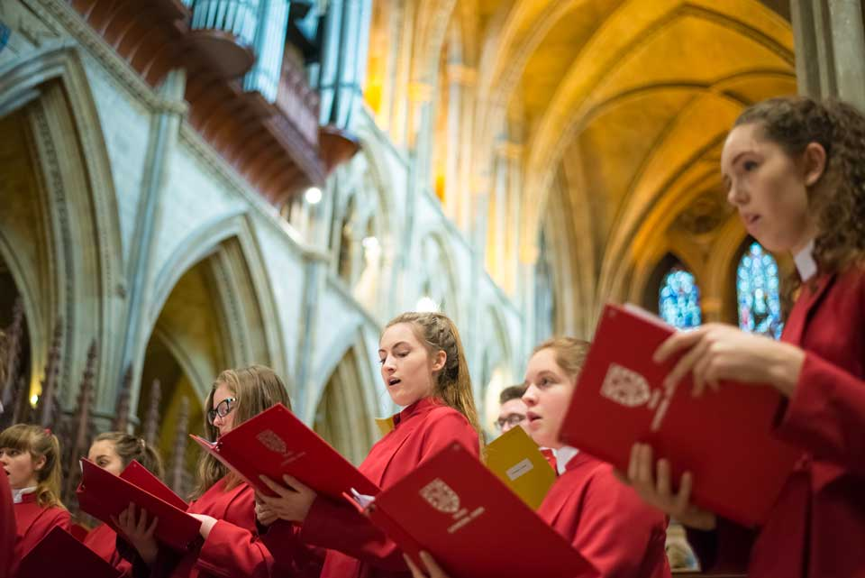 Photographing Truro Cathedral Choir