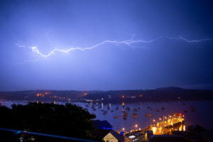 Photographing Lightning Over Falmouth and Flushing. 27 May 2018