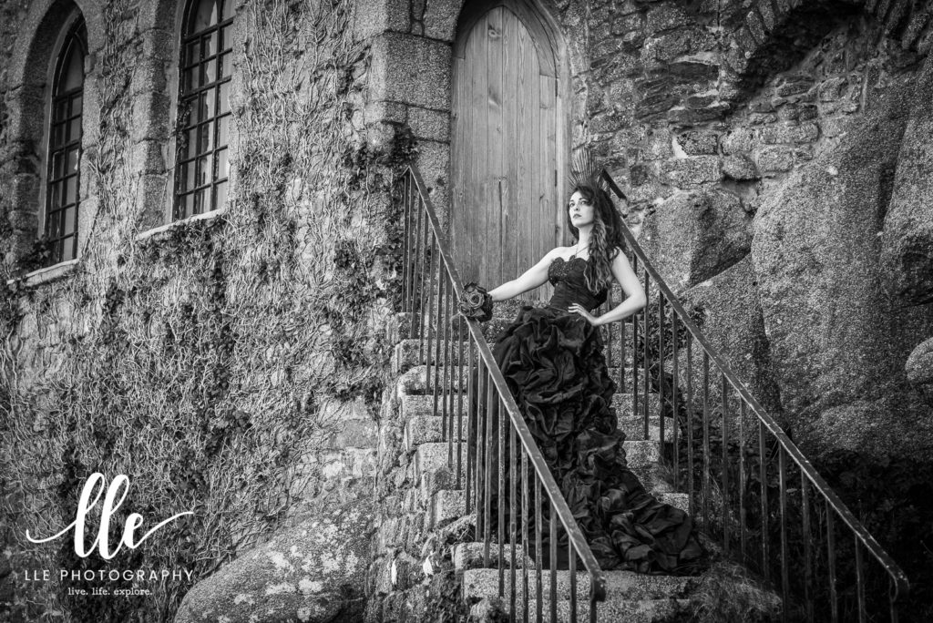 Atmospheric Gothic Portrait Photography session in Cornwall