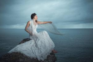 Cornwall Model Photoshoot, wedding style