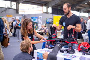 Have A Go Penzance demonstrate their Flyboard equipment at the GrowthFest 2018 Event, Cornwall. Photograph taken by Event Photographer Claire Wilson, LLE-Photography.