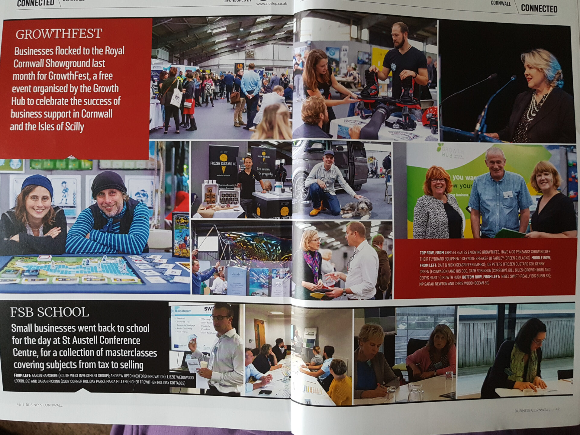 photographs in business cornwall magazine,