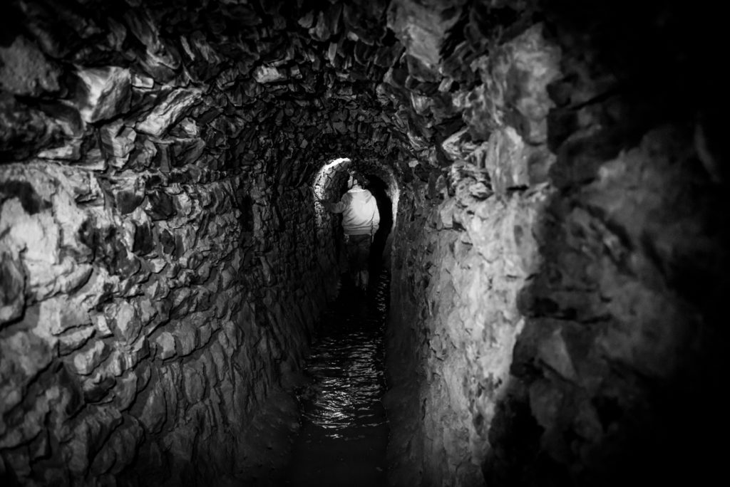 Photograph of Nangiles Mine exploration, Carnon Valley, Cornwall.