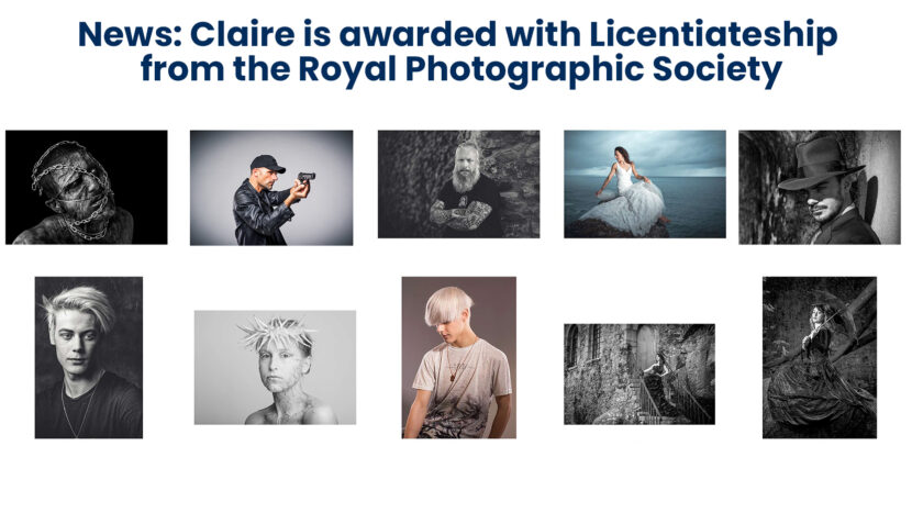 Claire is awarded with licentiateship by the Royal Photographic Society - this is her successful panel