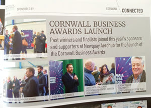 Claire Wilson photographing launch of Cornwall Business Awards 2019