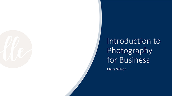 Introduction to Photography for Business